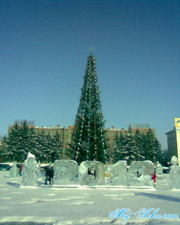 Новогодняя Ёлка на Площади Ленина в Хабаровске.