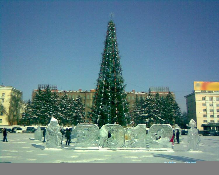 Новогодняя Ёлка на Площади Ленина в Хабаровске