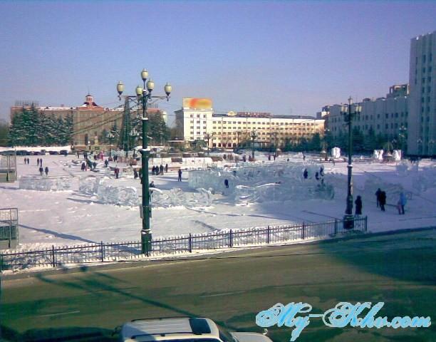 Площадь Ленина Хабаровска в Новый 2012 год