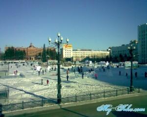 Площадь Ленина Хабаровска в 2013 году.