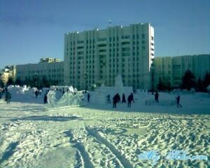 Здание Правительства Хабаровского края на Площади Ленина.