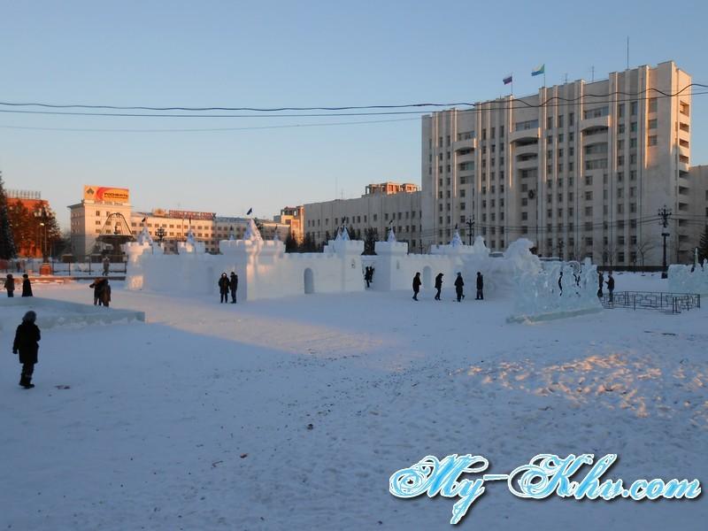 Новогодняя Ёлка на площади Ленина Хабаровска в 2014 году.